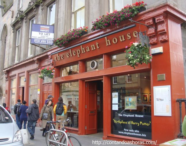 Elephant House, The Birthplace of Harry Potter.. em Edimburgo