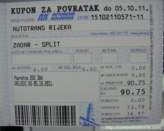 Andando de ônibus na Croácia e atravessando a fronteira entre a Croácia e a Bósnia!