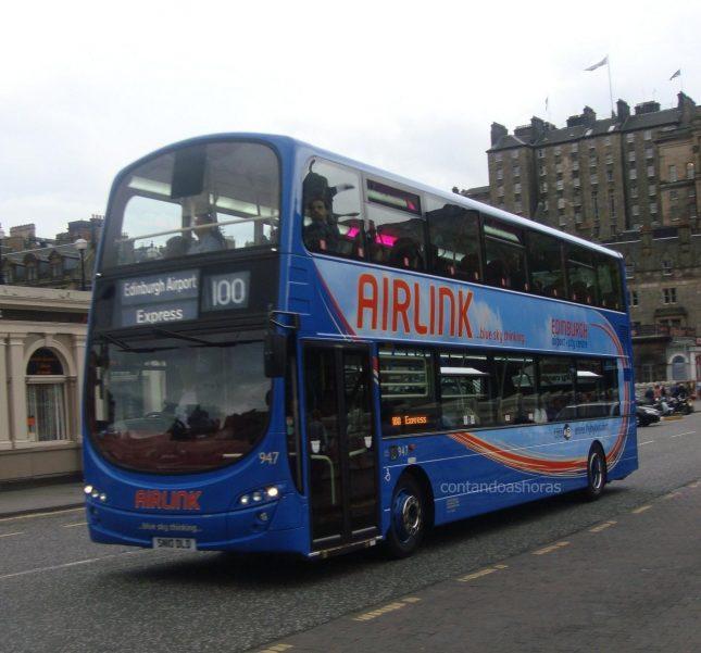 Airlink: O ônibus que vai do aeroporto de Edimburgo até o centro da cidade