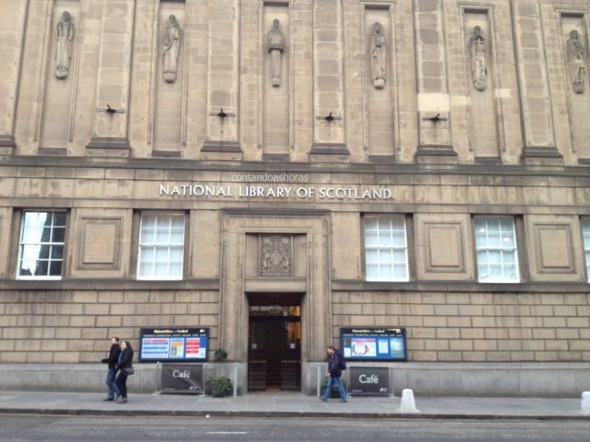 A Bíblia em Inglês, na National Library of Scotland