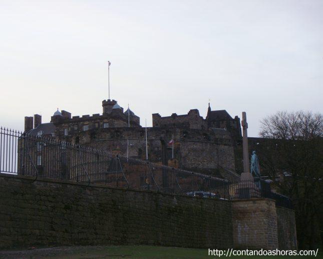 Os jardins do Castelo de Edimburgo