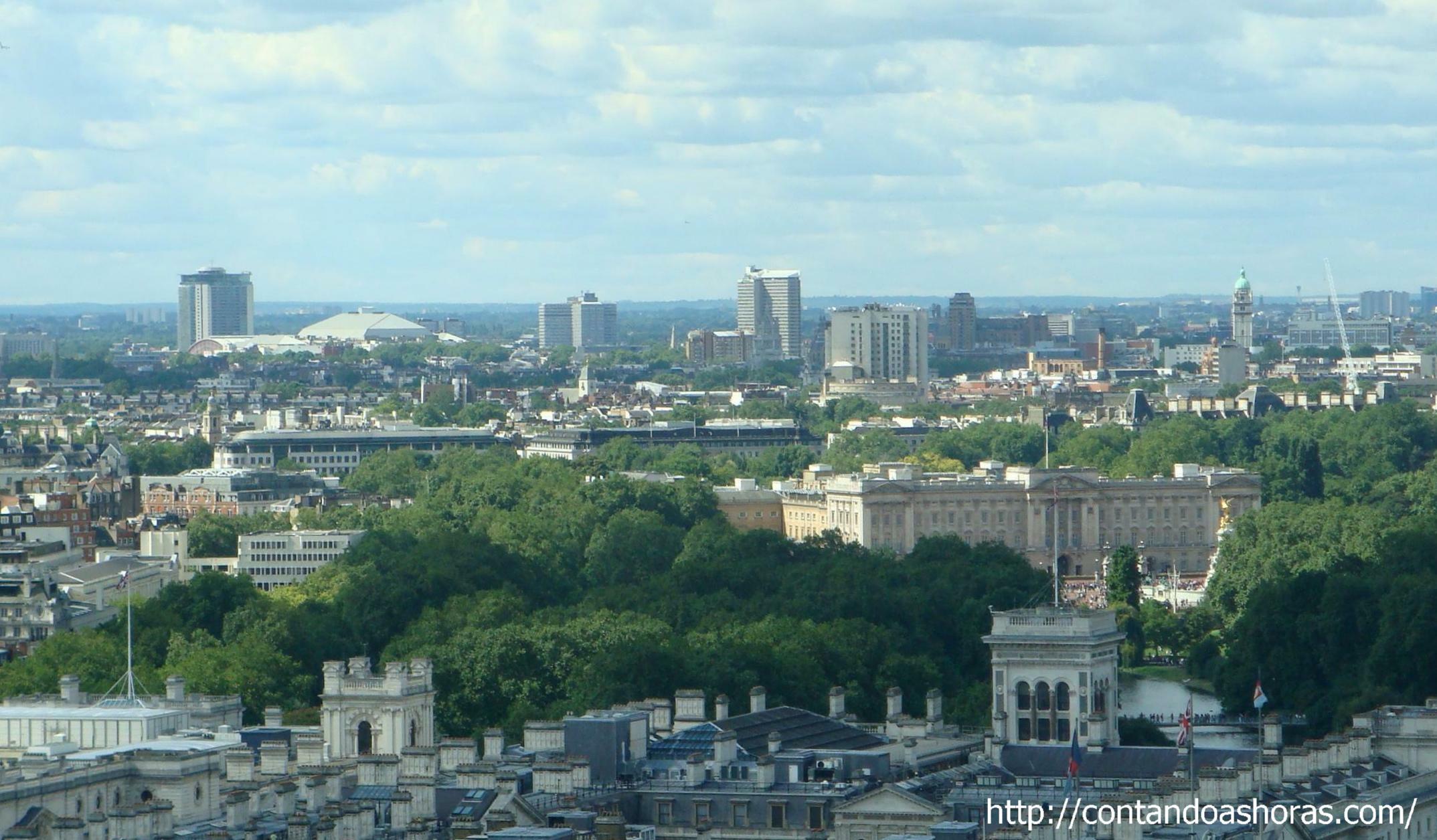 Dá pra ver até o Palácio de Buckingham