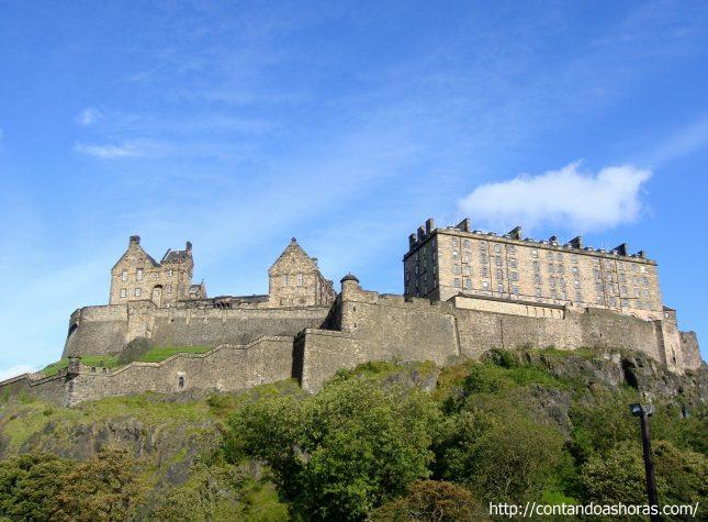 Castle Terrace, um dos melhores lugares pra fotografar o Castelo de Edimburgo