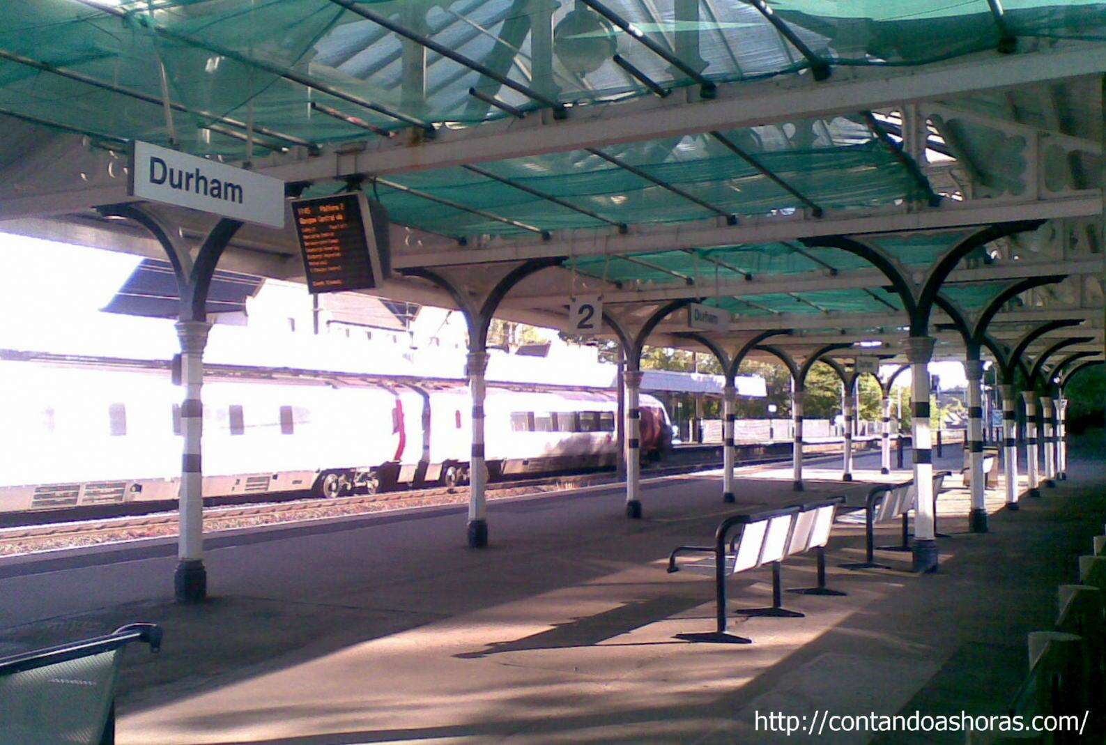 Estação de trem de Durham, na Inglaterra