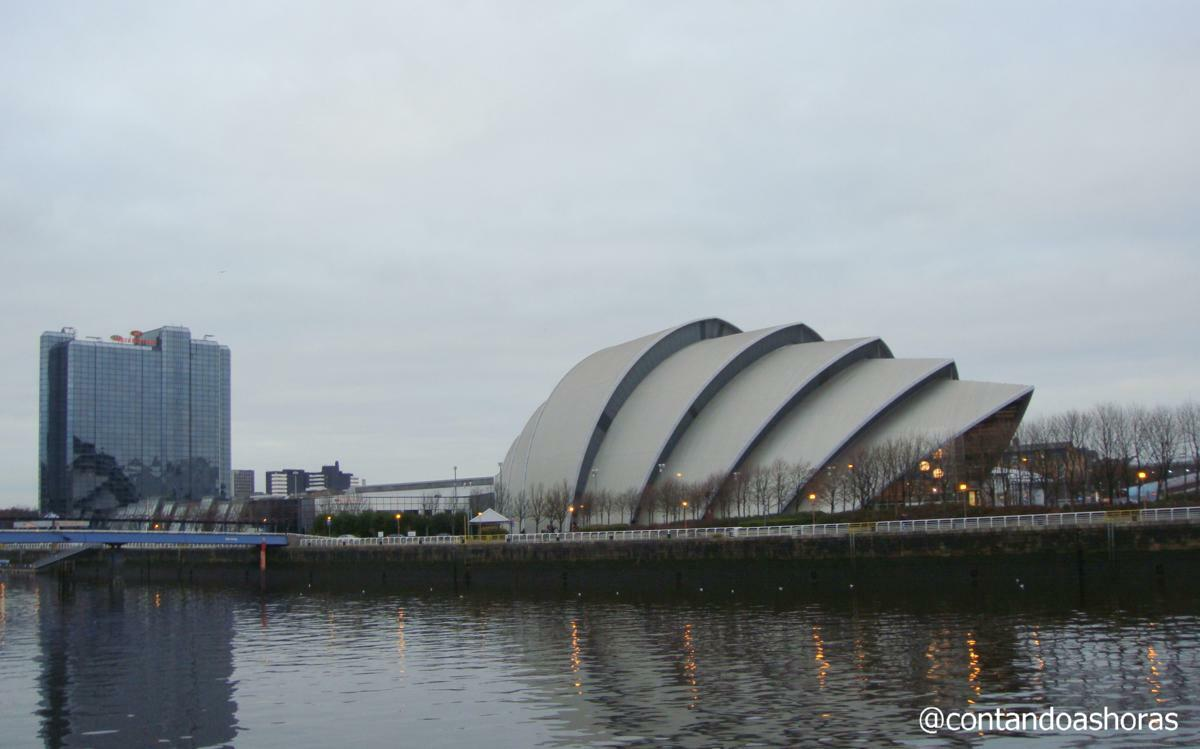 Scottish Exhibition and Conference Centre e o rio Clyde