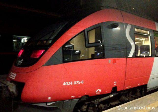 Como andar de trem na Áustria e entre a Suíça e a Áustria