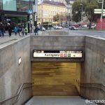Andando de metro em Viena
