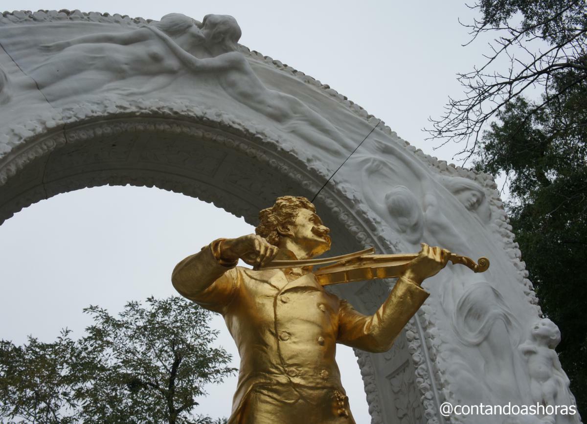 Estátua de Johan Strauss, no Stadtpark