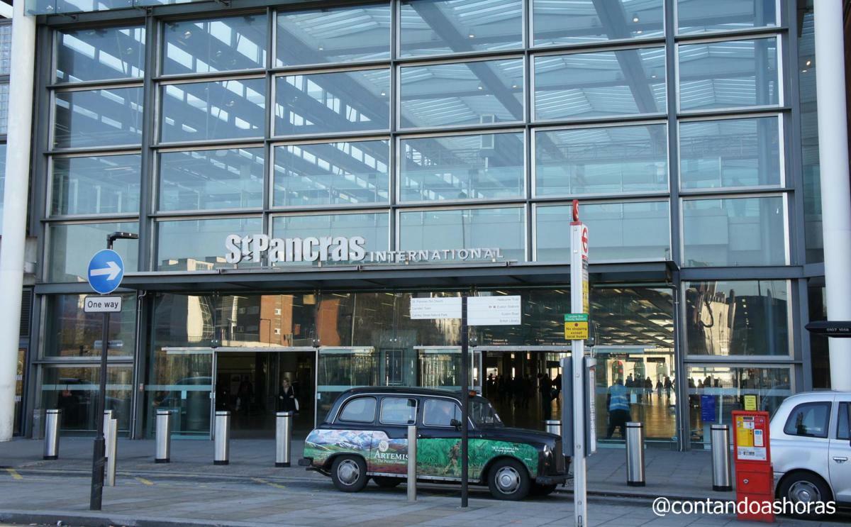 Estação de St Pancras em Londres, de onde sai o Eurostar