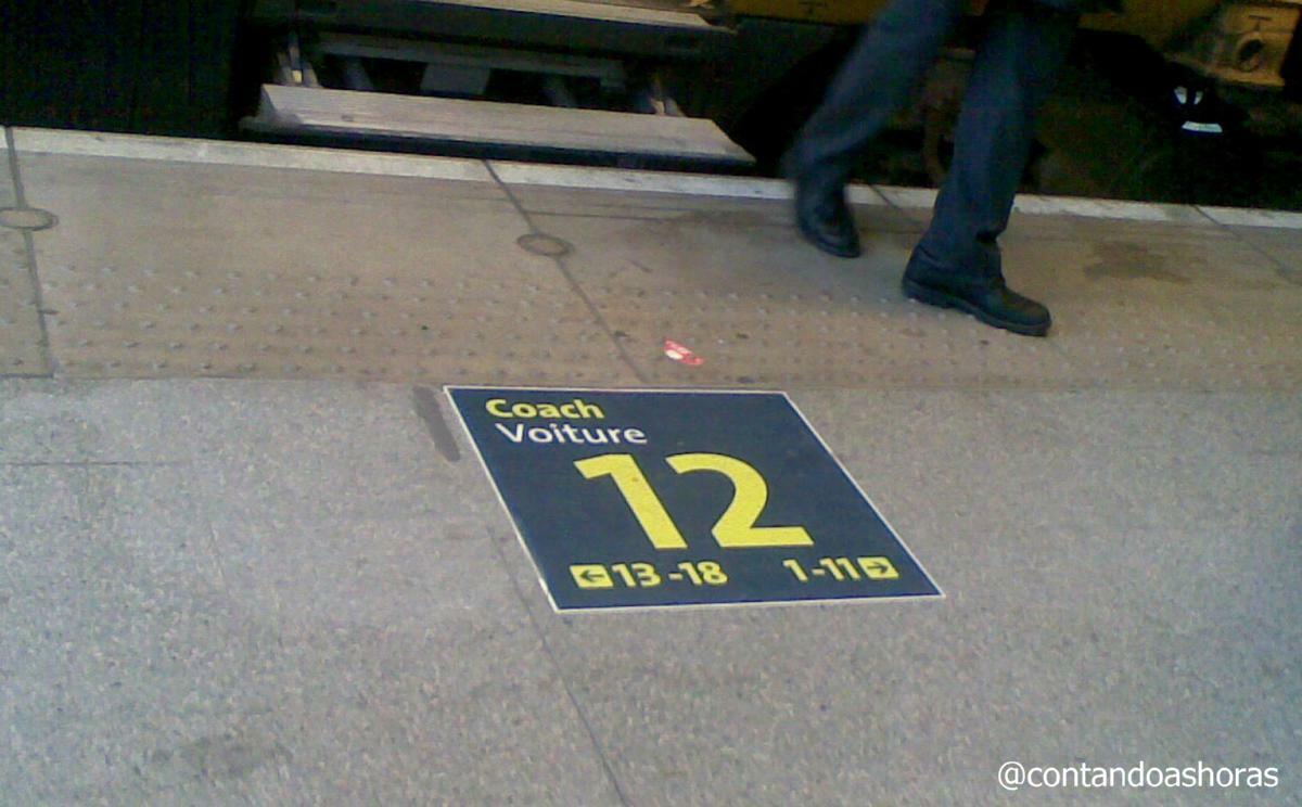Localizando o vagão na plataforma