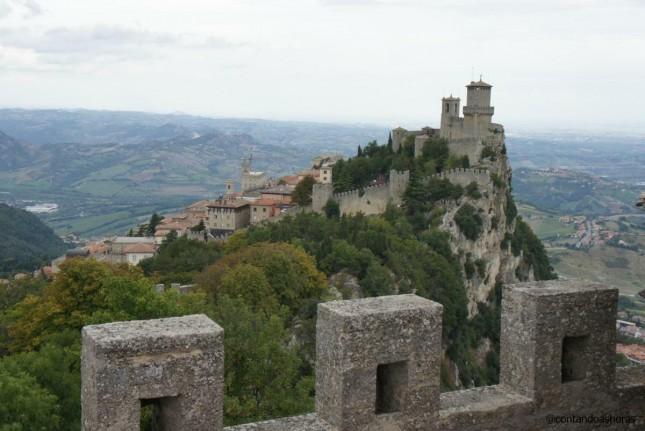 Torre Guaita vista a partir da segunda torre