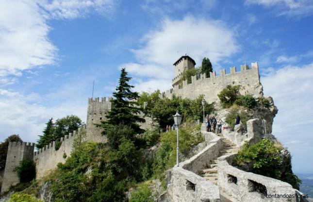 Os únicos 5 minutos de sol que peguei em San Marino!