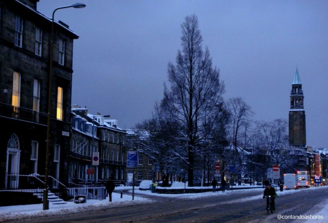 Nevasca que caiu em Edimburgo em 2010