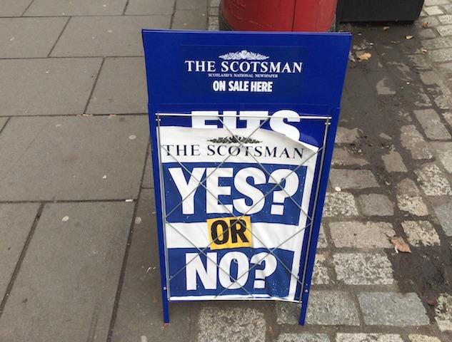O Referendo da Escócia em Fotos