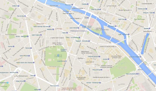 mapa st germain des pres