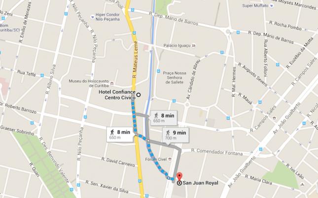 Mapa Hotel Centro Civico