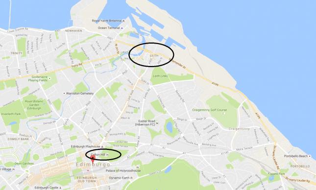 Mapa Leith