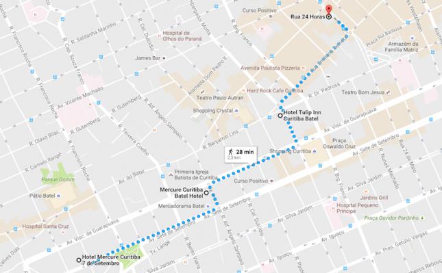 Curitiba: Os Hotéis 3 estrelas