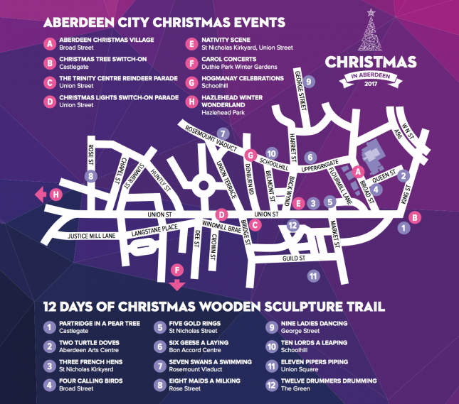 Christmas Aberdeen Map