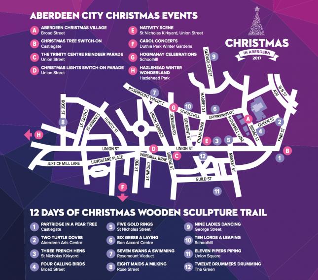 Christmas Aberdeen Map