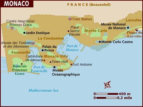 Mapa Monaco