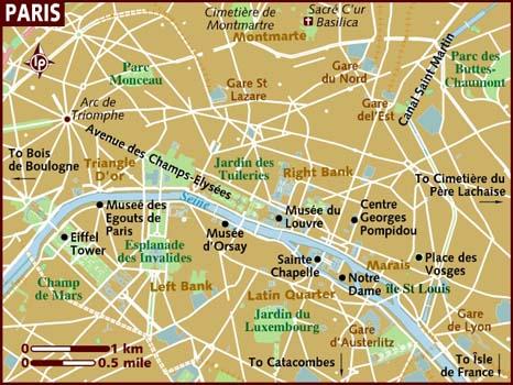 Mapa Paris