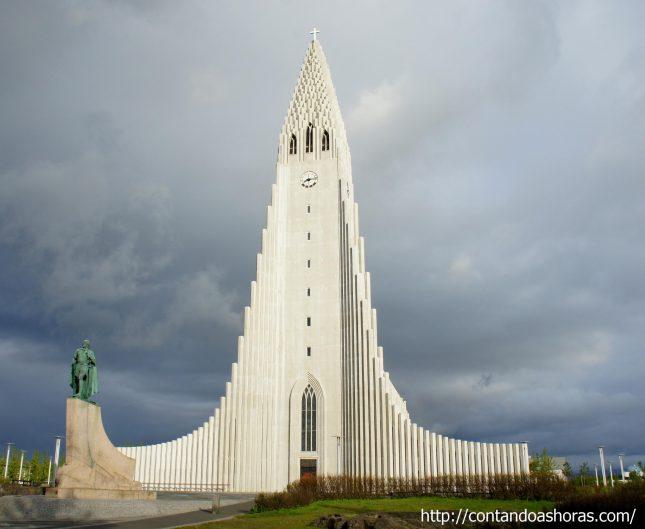Hallgrímskirkja, em Reykjavík
