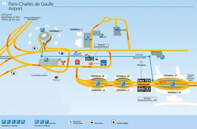 Aeroporto Charles de Gaulle até o centro de Paris