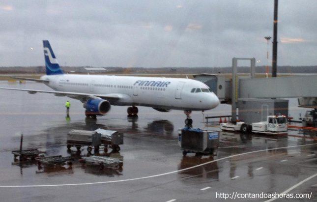 Chegando em Helsinki