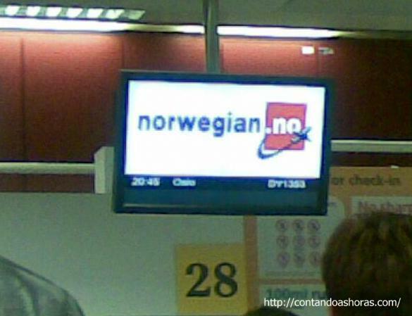 Chegando em Oslo