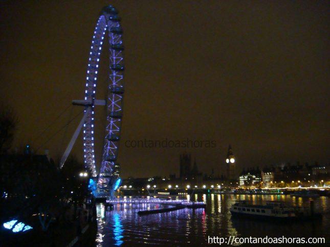 London Eye: dia x noite