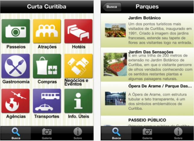 App para usar em uma viagem à Curitiba!