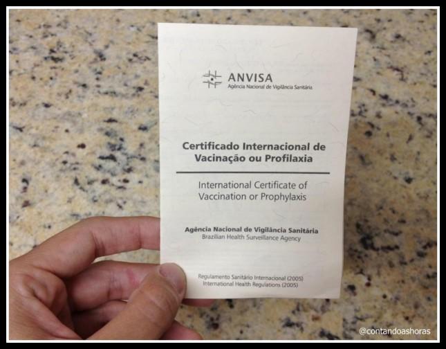 Vacina contra a Febre Amarela e Carteira Internacional de Vacinação