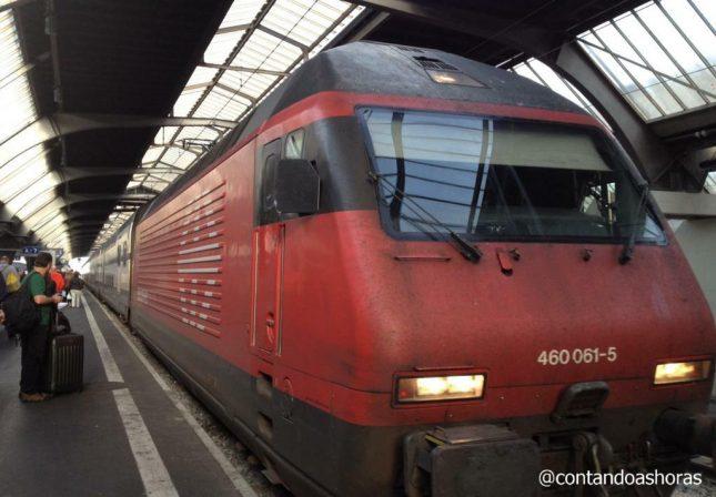 Miniguia: Andando de trem na Suíça