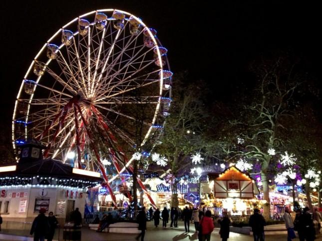 Londres – Mercadinho de Natal na Leicester Square