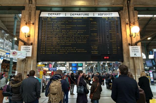 Viajando de trem na França