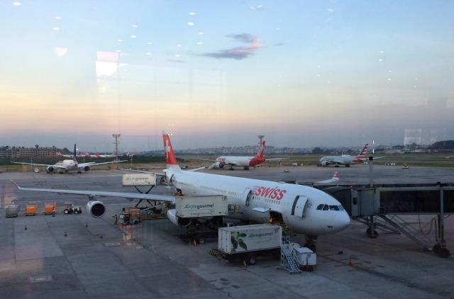 Voando Swissair pela primeira vez