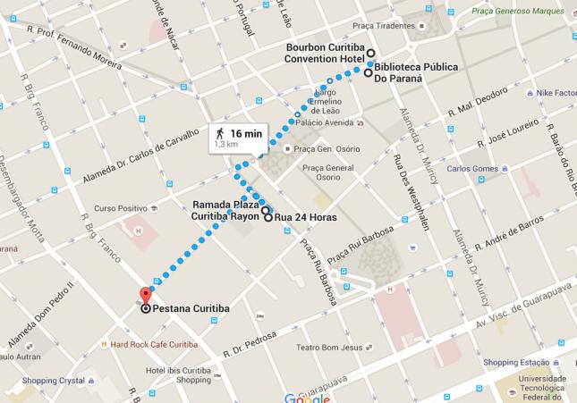 Curitiba: Os hotéis 5 estrelas