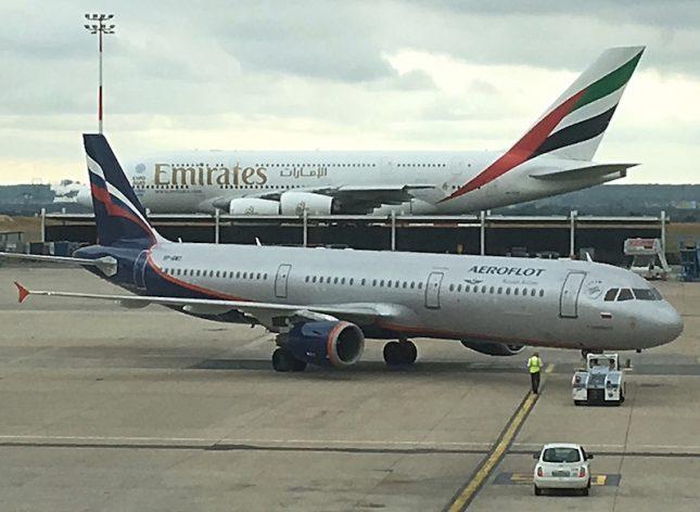 Voando Aeroflot pela primeira vez